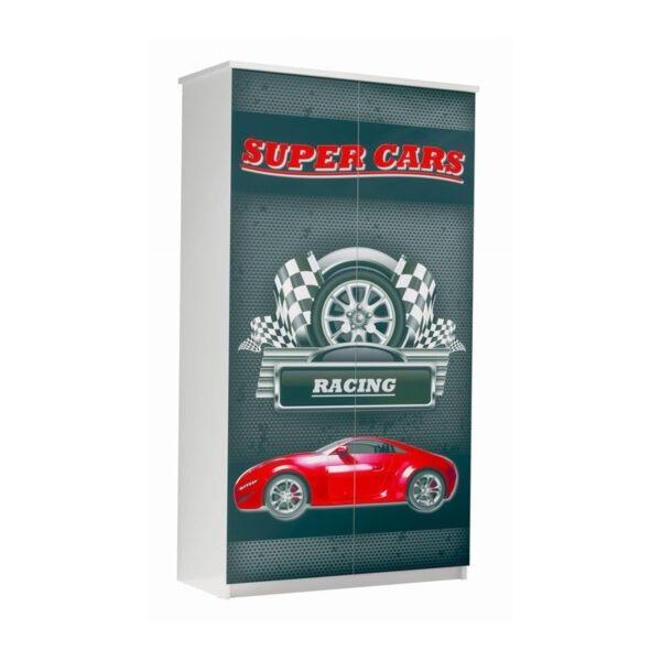 szafa super cars czerwona