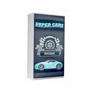 szafa super cars niebieska