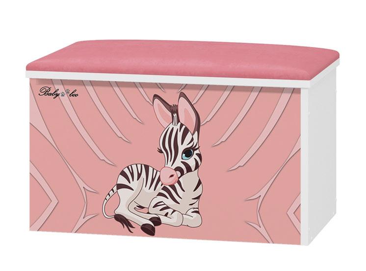 Tapicerowany pojemnik na zabawki Zebra