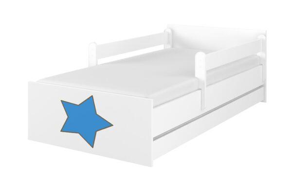 lozko gwiazdka niebieski