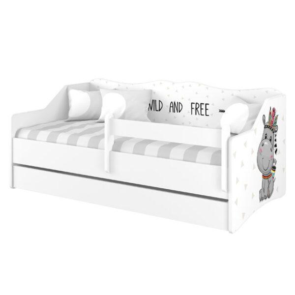 Łóżko LULU Hipcio w kolorze biały gładki