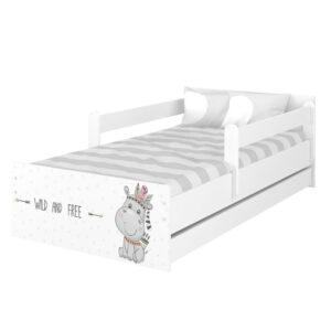 Łóżko dziecięce MAX Hipcio biały gładki