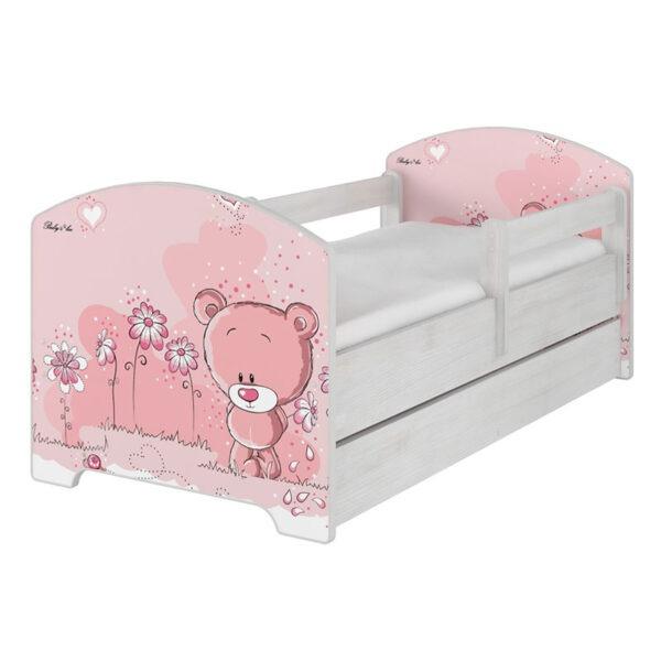 Łóżko z szufladą Różowy miś