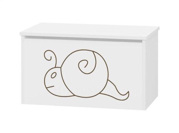 skrzynia pojemnik ślimak biała