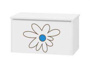 skrzynia pojemnik na zabawki niebieski kwiatek