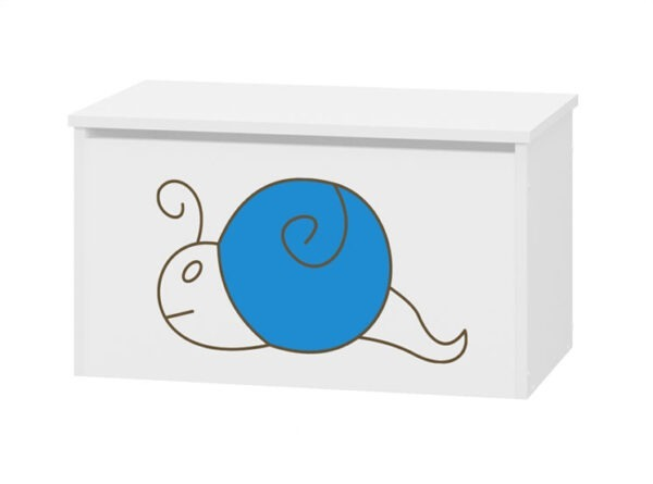 pojemnik na zabawki niebieski ślimak
