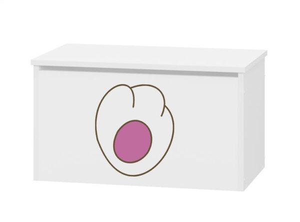 różowy pojemnik na zabawki kotek