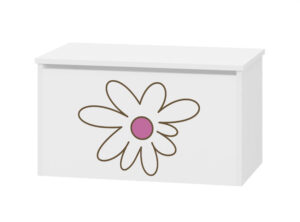 pojemnik na zabawki różowy kwiatek