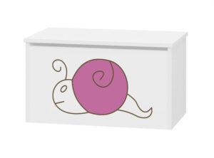 pojemnik na zabawki różowy ślimak