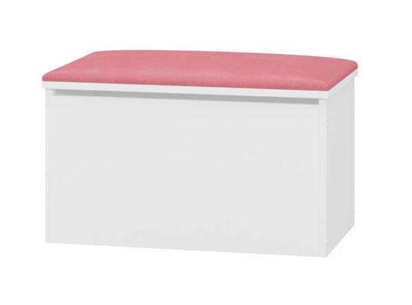 Pojemnik na zabawki tapicerowany różowy
