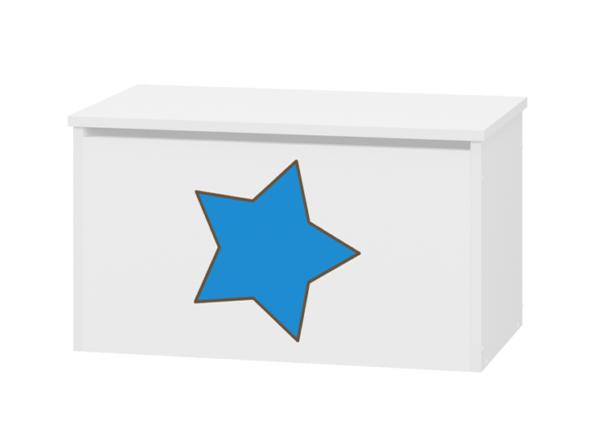 pojemnik na zabawki niebieski gwiazdka