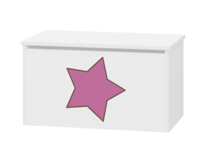pojemnik na zabawki różowy gwiazdka
