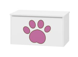 pojemnik na zabawki różowy chilala