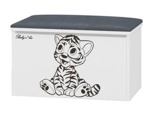 Tapicerowany pojemnik na zabawki Tygrysek