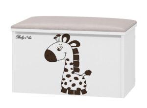 Tapicerowany pojemnik na zabawki Żyrafa