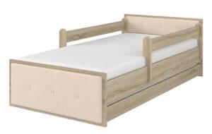 Łóżko tapicerowane MAX dąb sonoma