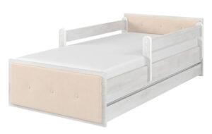 Łóżko MAX tapicerowane surf biały
