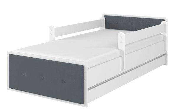 Łóżeczko tapicerowane MAX biały gładki